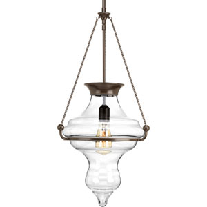 P500031-020: Cazbah Antique Bronze One-Light Pendant