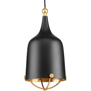 P500033-031: Era Black One-Light Mini Pendant