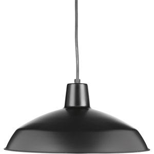 P5094-31: Metal Shade Black One-Light Pendant