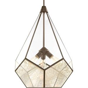 P5322-20: Cinq Antique Bronze Three-Light Pendant