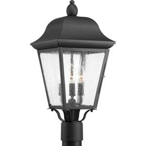 P540001-031: Kiawah Black Three-Light Outdoor Post Mount