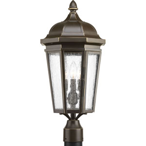 P540002-020: Verdae Antique Bronze Three-Light Outdoor Post Mount