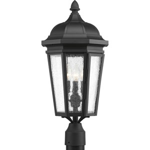 P540002-031: Verdae Black Three-Light Outdoor Post Mount