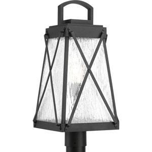 P540009-031: Creighton Black One-Light Outdoor Post Mount