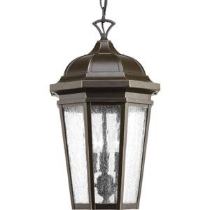 P550002-020: Verdae Antique Bronze Three-Light Outdoor Hanging Lantern