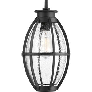 P550005-031: Pier 33 Black One-Light Outdoor Hanging Lantern