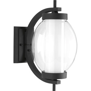 P560000-031-30: Ellipsis Black Energy Star One-Light LED Outdoor Wall Mount