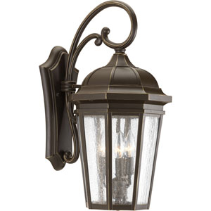P560016-020: Verdae Antique Bronze Three-Light Outdoor Wall Mount