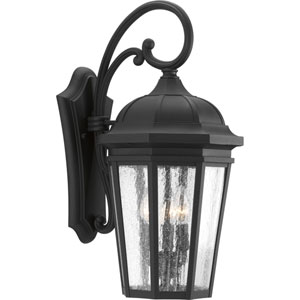 P560016-031: Verdae Black Three-Light Outdoor Wall Mount