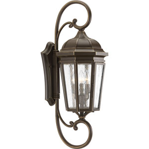P560017-020: Verdae Antique Bronze Three-Light Outdoor Wall Mount