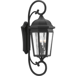 P560017-031: Verdae Black Three-Light Outdoor Wall Mount