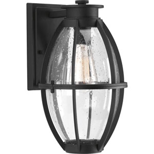 P560024-031: Pier 33 Black One-Light Outdoor Wall Mount