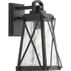 P560031-031: Creighton Black One-Light Outdoor Wall Mount