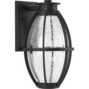 P560034-031-30: Pier 33 Black Energy Star One-Light LED Outdoor Wall Mount