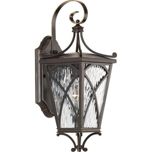 P6080-108: Cadence Oil Rubbed Bronze One-Light Outdoor Wall Mount