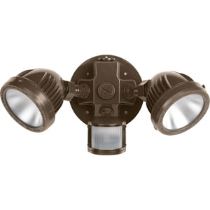 P6341-2030K: Security Antique Bronze Two-Light LED Outdoor Flood Light