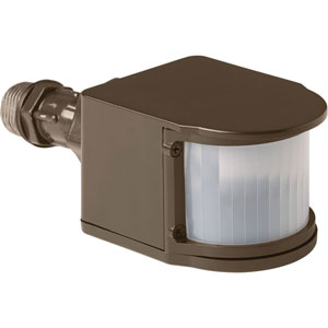 P6345-20: Security Antique Bronze One-Light LED Outdoor Motion Sensor