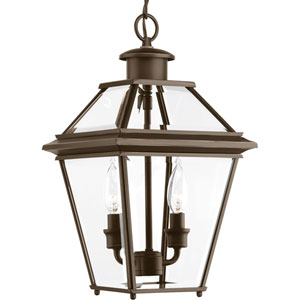 P6537-20: Burlington Antique Bronze Two-Light Outdoor Hanging Lantern