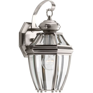 P6610-09: New Haven Brushed Nickel One-Light Outdoor Wall Mount