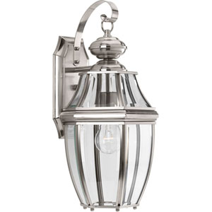 P6611-09: New Haven Brushed Nickel One-Light Outdoor Wall Mount