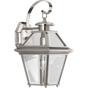 P6615-09: Burlington Brushed Nickel One-Light Outdoor Wall Mount