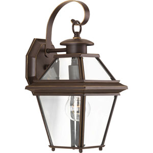 P6615-20: Burlington Antique Bronze One-Light Outdoor Wall Mount