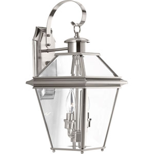 P6616-09: Burlington Brushed Nickel Two-Light Outdoor Wall Mount