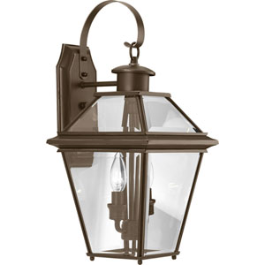 P6616-20: Burlington Antique Bronze Two-Light Outdoor Wall Mount