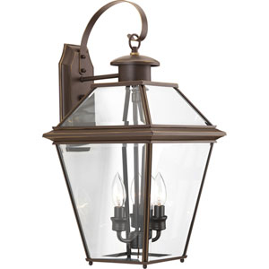 P6617-20: Burlington Antique Bronze Three-Light Outdoor Wall Mount