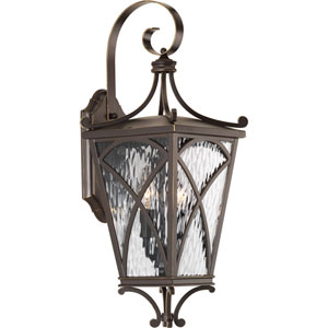 P6638-108: Cadence Oil Rubbed Bronze Two-Light Outdoor Wall Mount