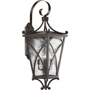 P6640-108: Cadence Oil Rubbed Bronze Four-Light Outdoor Wall Mount
