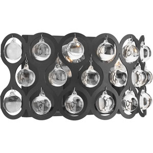 P710001-143: Vestique Graphite Two-Light Wall Sconce