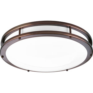 P7250-17430K9: Urban Bronze Energy Star One-Light LED Flush Mount