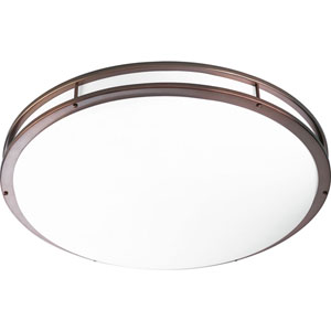 P7252-17430K9: Urban Bronze Energy Star Three-Light LED Flush Mount