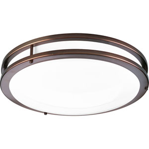 P7253-17430K9: Urban Bronze Energy Star One-Light LED Flush Mount