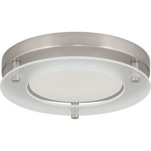 P8147-09-30K: Brushed Nickel Energy Star One-Light LED Flush Mount