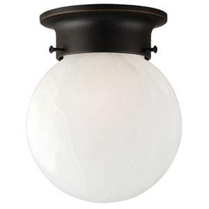 Millbridge Oil Rubbed Bronze Single-Light Globe Ceiling Mount