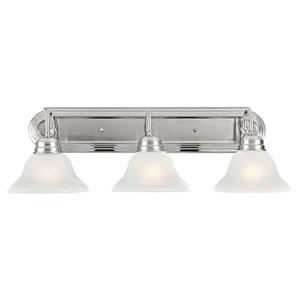 Millbridge Three-Light Satin Nickel Bath Light Satin Nickel