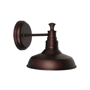 Kimball Textured Bronze 1-Light Bathroom Wall Sconce