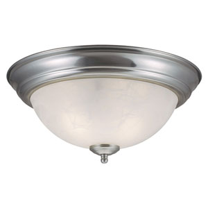 Millbridge Satin Nickel Two-Light Ceiling Mount