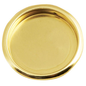 Polished Brass 2-1/8-Inch Closet Finger-Pull Pocket