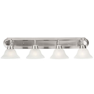 Millbridge Four-Light Satin Nickel Bath Light Satin Nickel
