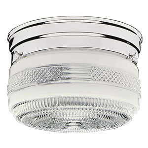 Polished Chrome Two-Light Ceiling Mount