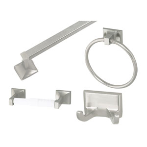 Millbridge Satin Nickel Four-Piece Bathroom Kit
