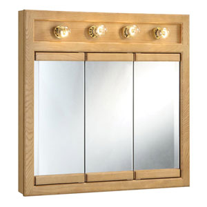 Richland 30 Inch Four-Light Tri-View Cabinet