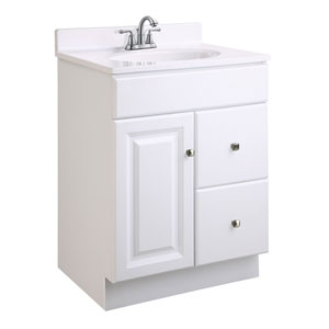 Wyndham White Semi-Gloss Vanity Cabinet without Top