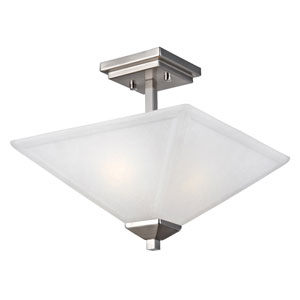 Torino Two-Light Satin Nickel Semi-Flush