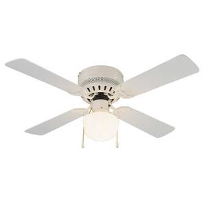 Millbridge 42-Inch White Hugger Fan