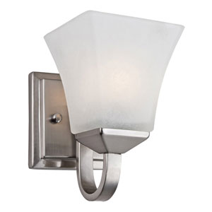 Torino Satin Nickel Single-Light Wall Sconce