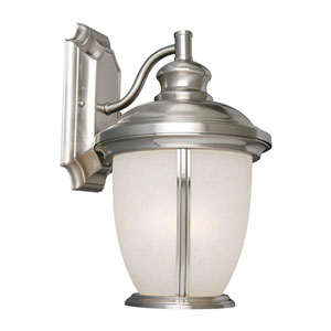 Bristol Satin Nickel Outdoor Wall Mounted Light